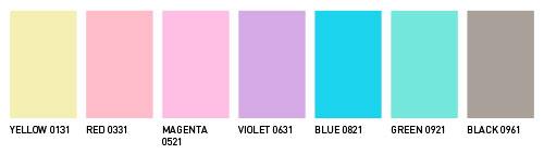 652ea3a7fb Ugyancsak hét, a Pantone alapszínektől eltérő színárnyalat vegyítésével  állíthatóak elő a Neon színek: